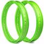 Par De Aro Motard Viper Para Cg 125 1978 A 1988 - Verde Neon