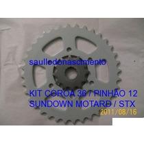 Coroa E Pinhão Para Sundown Motard 200cc / Stx 200cc