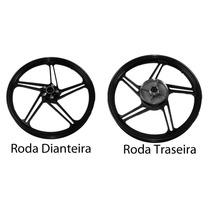 Roda Liga Leve Titan 150 Esd 2014 Disco 5 Pontas Grafite Par