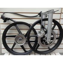 Roda Titan Fan 150 09 A 13 Preta Scud + Freio A Disco T1506p