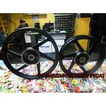 Roda Scud Biz 125 Ks A Lona + Rolamento Preta O Par 10370038