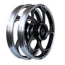 Roda Aluminio Diant E Tras Icarus Preto Cg150 + Brinde