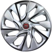 Calota Aro 14 Ds4 Esportiva Silver Fiat Palio Uno Idea Strad