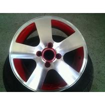 Roda Aro 14 Diamantada Com Vermelho A4