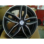 Roda Aro 17 Audi Rs6 Novo Preta Fosca E Grafite Diamantado