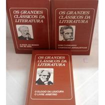 Lote 3 Livros Os Grandes Clássicos Da Literatura, Vol 1 Ao 3
