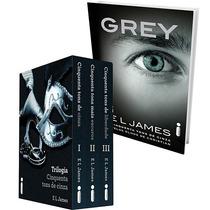Box Kit 4 Livros Grey+trilogia 50 Tons De Cinza Frete Grátis
