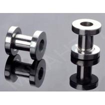 Alargador Piercing 5mm Aço Inox Cirúrgico 316l Prata