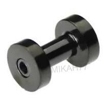 Par Alargador 5mm Piercing Preto Em Aço Inox Cirúrgico 316l