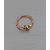 Piercing Argola / Captive Folheado A Ouro