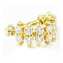 Piercing Orelha Sandy Ouro 18k Cartilagem Pedras Zirconia