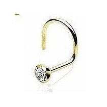 Piercing Nariz Nostril Ouro 18k 750 Com Zircônia