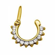Piercing Clicker Com Banho De Ouro Para Septo Ou Orelha