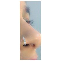 Piercing Orelha Nariz Prata Aço, Cartilagem Argola, Indiana