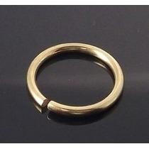 Piercing Argola De Nariz Folheada A Ouro- Grossa - 1mm
