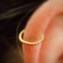 Piercing Falso Argola De Helix, Orelha, Cartilagem Dourado