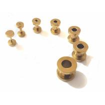 Alargadores Dourados Aço Inox 1mm,2mm,3mm,4mm,5mm,6mm,8mm
