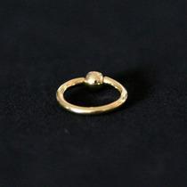 Piercing Banhado A Ouro 18k Captive Com Pedra Crystal 1,2mm