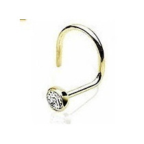 Piercing Nariz Nostril Ouro 750 18k Com Zircônia Micro Ponto