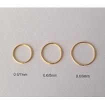 Piercing Nariz Argola Folhado A Ouro ** 3 Tamanhos ** Kit 3