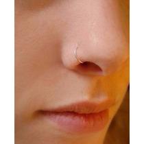 2 Peças Piercing Argola De Nariz Folheada A Ouro Antialérgic