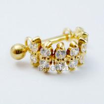 Piercing De Orelha, Cartilagem, Helix De Ouro 18k + Garantia