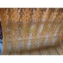 Colcha Crochê Casal Amarela Franja Antiga Porém Nunca Usada