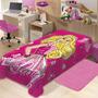 Cobertor Juvenil Raschel 1,50 X 2,20 M Barbie - Joitex Joli