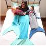 Cobertor Solteiro , Cauda De Sereia E Tubarão ! Novidade