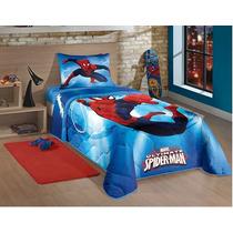 Edredom Infantil Solteiro Spider Man Ultimate Homem Aranha
