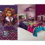 Jogo De Lençol Fronha Toalha De Banho Infantil Monster High
