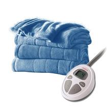 Sunbeam Cobertor Aquecida Canalizado Microplush Azul Complet