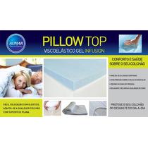 Pillow Top Viscoelástico Nasa Gel Solteiro 78 X 1,88