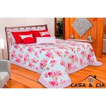 Edredom Casal Kit Color 2,50m X 2,50m Queen Size (13 Peças)