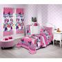 Edredom Infantil Disney Light Minnie Confetti Pink-santista