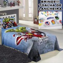 Jogo De Lençol P/ Cama Solteiro Avengers Os Vingadores 3pçs