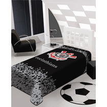 Cobertor Manta De Microfibra Solteiro Corinthians - Jolitex