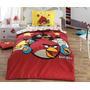 Angry Birds Jogo De (lençol) Cama / Licenciado