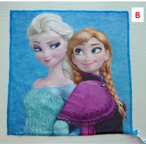 Toalha De Mão Aveludada Frozen Com 32x32cm. Produto Importad