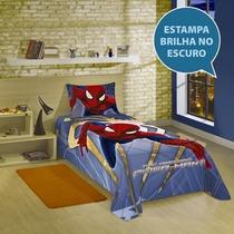 Colcha Simples Solteiro Homem Aranha Spider Man - Lepper