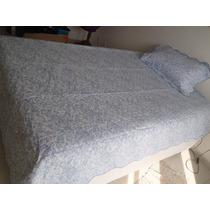 Colcha Cama Casal Enxoval Noiva Capa Travesseiro Almofada