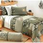 Colcha Solteiro Adventure 4pçs-100%algodão 200 Fios C/ Bolsa