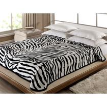 Cobertor Casal Zebra Corttex Toque Supermacio E Antialérgico