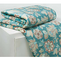 Manta Soft Cobertor Casal Estampada Microfibra Verde Floral