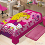 Manta Juvenil 1,50m X 2,20m Barbie Disney - Jolitex