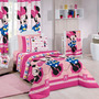 Jogo Lençol Solteiro 3 Pçs Disney Minnie Lovely - Santista