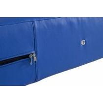 Capa Para Colchão Solteiro Em Napa Azul 0,88x188