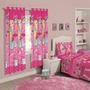 Cortina Infantil 02 Peças Disney Barbie Flower - Santista