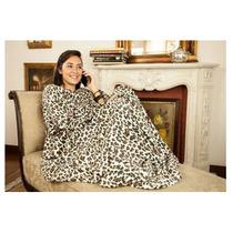 Cobertor Com Mangas Solteiro Onça - Pronta Entrega!