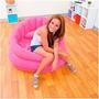 Poltrona Inflável Rosa Para Menina Decoração Quarto Feminina